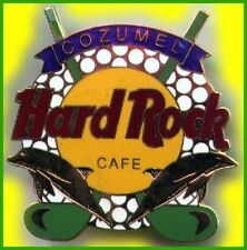 Hard Rock Cafe COZUMEL 2000 Golf Ball & Clubs LARGE HRC Logo PIN - Catalog #2114
