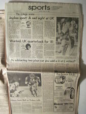 Louisville Courier Journals 10-26-1980. UGA Freshmen Herschel Walker beats UK!