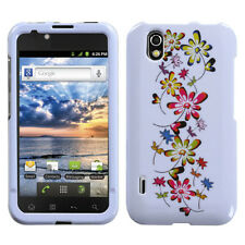 For LG Marquee HARD Protector Case Snap on Phone Cover Falling Flowers