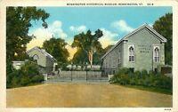 VINTAGE PRE LINEN POSTCARD BENNINGTON HISTORICAL MUSEUM VERMONT VT
