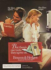 Benson & Hedges Cigarettes--1985 Advertisement