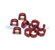 NEW KREX C-CLIP CABLE HOUSING HOSE GUIDE FOR MTB 10PCS, RED