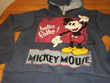 Disney Store MICKEY Sweatshirt Hoodie Jacket Medium NEW