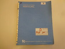 Tektronix Type D Plug-In Unit Calibrated Preamp Instruction Manual Vintage
