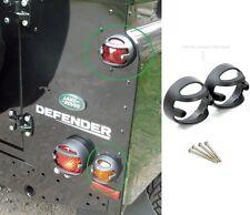 LAND ROVER DEFENDER 90 / 110 MODEL KBX REAR 72MM LAMP GUARDS PAIR KBX7101S BLACK
