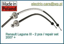 Renault Laguna III 3 Electronic Handbrake Cables 2pcs Set Parkingbrake 2007+
