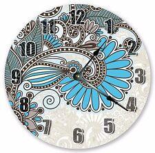 "10.5"" PAISLEY PATTERN CLOCK INTRICATE DESIGN CLOCK- Large 10.5"" Wall Clock 3321"