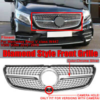 For Mercedes Benz V class W447 15-18 Diamond Style Front Grille Grill W/