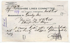 HL262 1891 GB Cheshire Lines Birkenhead Station Guiseley NEW FIND {samwells}