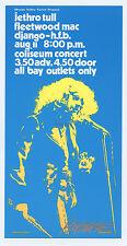 Jethro Tull Fleetwood Mac Handbill 1972 Aug 11 Coliseum Vancouver Bob Masse