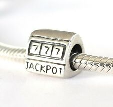 NEW 925 Sterling Silver European Bracelet Charm Bead Casino Jackpot