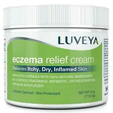 LUVEYA Eczema Relief Cream BRAND NEW & SEALED Colloidal Oatmeal Moisturizer 4 OZ
