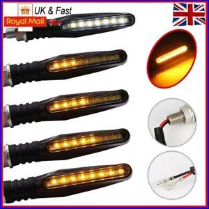 4X Motorcycle LED Front Rear Turn Signal Indicators Motorbike Flowing Light UK