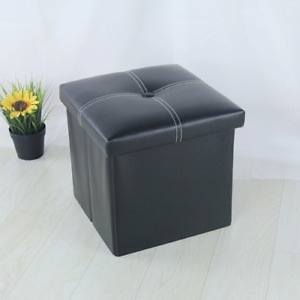 Storage Box Storage Stool Foldable Storage Box 12 Inch Sofa Footrest Foot Stool