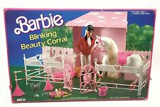 Barbie Blinking Beauty Corral Horse Stable NRFB Vintage 1980s