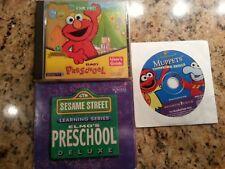Sesame Street Elmo's Preschool & Deluxe Muppets educational learning cd's