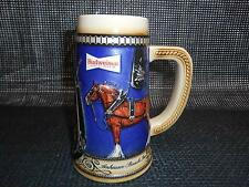 Old Vtg BUDWEISER BEER 1988 Harness Stoneware Stein Mug Tankard CERAMARTE Brazil