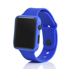 UK LED Watch Sports Silicone Rubber Digital Unisex Women Men Girls Boys Gifts Blue