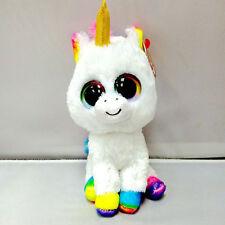 "NEW 6"" TY Beanie Boos Glitter Eyes Colorful Unicorn Plush Stuffed Toy Kid Gifts"