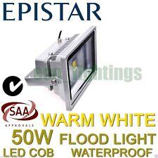 LED 50W FLOOD OUTDOOR WASH LIGHT LAMP WATERPROOF COB HIGH POWER FLOODLIGHT WARM