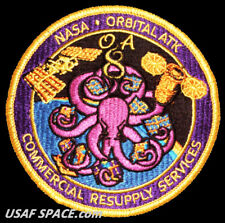 OA-8 ORBITAL ATK-NASA ISS COMMERCIAL RESUPPLY ORIGINAL AB Emblem NASA PATCH