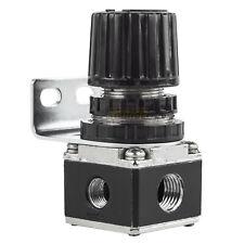 "1/4"" Air Compressor In Line Compressed Air Regulator Mini w/ Wall Mount Bracket"