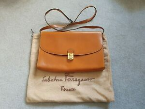 SALVATORE FERRAGAMO Ladies Tan Leather Bag & Dustbag