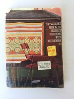 Vintage Coats & Clark Decorate Your Home With Needlework Craft Book 216 Knit