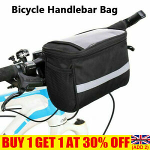 Reflective Bike Handlebar Bag Bicycle Front Basket Cycling Equipment Outdoor UK