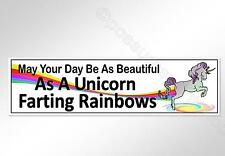 unicorn farting rainbows funny car bumper sticker beautiful day 200 mm vinyl