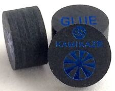 Kamikaze Black Layered Cue Tips  14 MM (Super Soft) (4 Tips)  Fast Shipping....