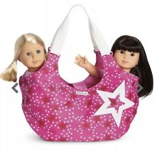 New American Girl Starry Tote~Pink/White Carrier Travel Bag Storage Holds 2 Doll