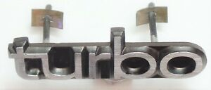 """SAAB 900 CLASSIC """"TURBO"""" METAL BADGE & CLIPS FOR FRONT GRILLE OEM GENUINE"""