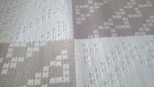 Qualità Moderno Crema & Marrone Chiaro Tappeto 60cm x 155cm spessore 16mm Tappeto