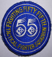 50s 60s USAF Flight Jacket Patch *55th Fighter Squadron*