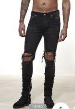 Other Uk Distressed Knee Rip Fade Black Jeans Like Represent All Saint Laur Fog