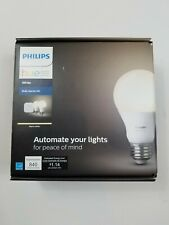 Philips Hue White A19 Smart Light Starter Kit White 60W LED 2 Pack Sealed