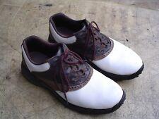 Footjoy Greenjoys Men's 10 1/2 M Brown/White Oxford Soft Spike Golf Shoes