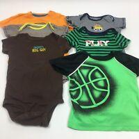 Infant Toddler Boys Tops Short Sleeve One Piece Bodysuit Shirts Lot 18 months