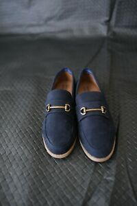 River island Navy Suede Leather Boat Shoes Loafers