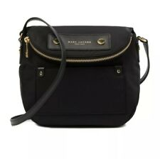 $180 New MARC JACOBS NEW YORK Women's Crossbody Black Nylon Hand Bag