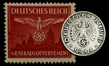 Rare Old Wwii German Coin One Reichspfennig 1944 D-Day & Wwii Mnh Germany Stamp