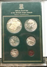British Virgin 1985 Sea Animal Mint Set of 6 Coins,Proof