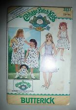 VINTAGE BUTTERICK PATTERN #3837 - GIRL'S & DOLL DRESS - GIRLS 12-14 - UNCUT