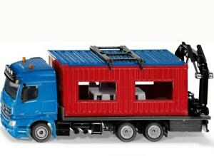 1:50 Scale Truck With Construction Container - Siku Free Shipping!