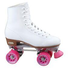 Chicago Crs400 Rink Skates White Pink Ladies Size 6