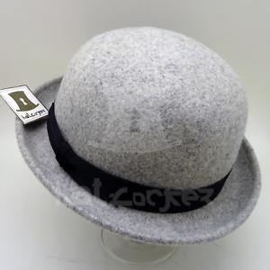 FASHION Wool Felt Bowler Hat Men Women Soft Derby Unisex   57cm   Charcoal Grey