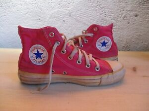 CONVERSE ALL-STAR vintage made in USA custom rose pink années 80 38 US 5 1/2