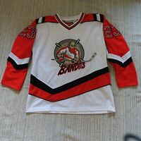 MEN'S NEW JERSEY BANDITS #23 NO EXCUSES 1990's AHL SEWN HOCKEY JERSEY - Size S
