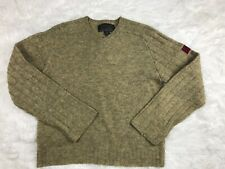 VTG 90s Abercrombie & Fitch V Neck Red Patch Wool Sweater Warm Men M